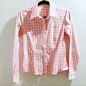 Vintage Lilly Pulitzer Pink Checkered Shirt Size 2